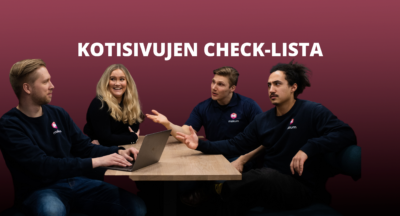 Kotisivujen check-lista – millä mallilla sivusi ovat?