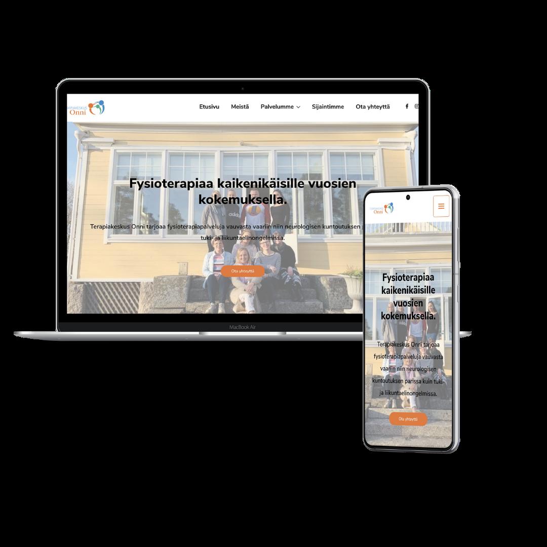 Case Terapiakeskus Onni Uudet WordPress-kotisivut terapiakeskukselle
